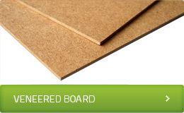 Veneered board